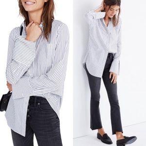Madewell Bristol Stripe Oversize Button Down Shirt